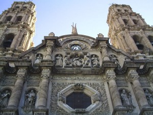 Early 18th century Metropolitan Cathedral in downtown Chihuahua